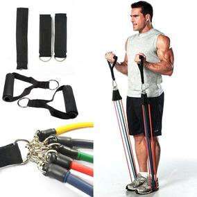 Kit Elasticos 11 Peças Tubing Musculação Funcional Yoga