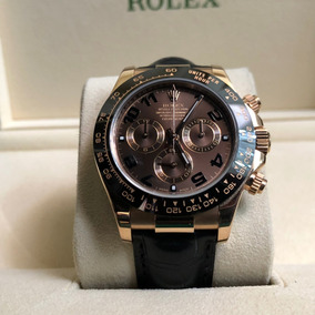 Rolex Daytona 116515 18k Oro Rosa Cara Chocolate Correa Piel
