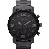 Reloj Fossil Jr1401 Acero Inoxidable Negro Analogo-caballero