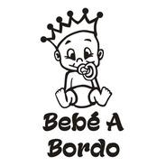 Calcomanía Bebe A Bordo 04  Con Nombre - Graficastuning