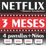 Cuente Netflix 4 Pantalllas Hd 4k 3ms | Diamante®