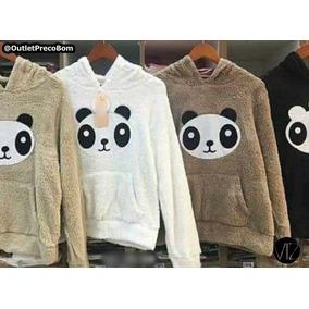 Casaco Panda Blusa De Pelucia Casaquinho 022 Moda Blogueira 23be9c644df