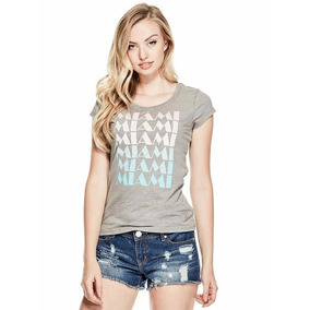 Remera Mujer Guess Estampada Talle Xs Y Talle L