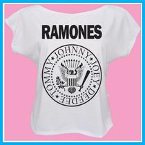 Blusa Feminina Ramones, Banda, Rock, Música, Personalizada