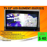 Vendo Tv 22 Pantalla Solarizada Led Element (elef222)