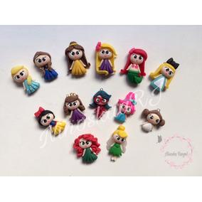 Dijes Apliques De Princesas De Disney Porcelana Fría