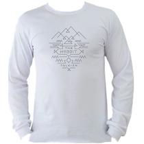 Camiseta Adulto Senhor Sr Anel Anéis Hobbit Manga Longa E