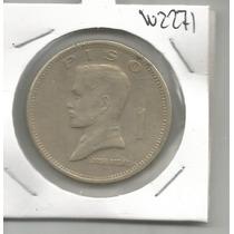Filipinas Moneda De Un Piso 1974