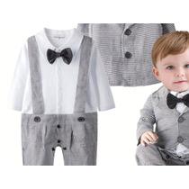 Macacao Terno Bebe Masculino Social Casaco E Gravata