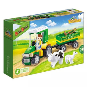 Blocos De Montar Fazenda Trator Carreta 115 Peças Lego