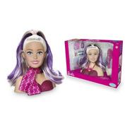 Boneca Barbie Maquiagem E Acessórios Styling Head Busto