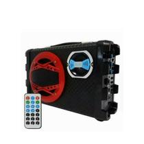 Caixa De Som Portátil Bluetooth Usb Sd Fm Recarregável