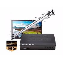 Kit Conversor Tv Digital Gravador + Antena Externa Uhf
