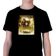 Camiseta Infantil O Senhor Dos Aneis Capa