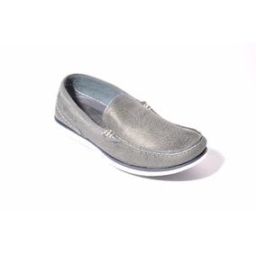 Zapato Hombre Mocasín Náutico De Cuero Zurich Art: 2256