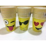 Vasos Descartable Emojis X 10 Cotillon