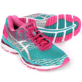 Tenis Asics Gel Nimbus 18 Feminino Verde E Pink