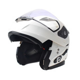 Motos Bluetooth Casco Moto Visera Doble Con... (m, White)