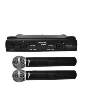 Set Kit 2 Microfonos Inalambricos Señal Uhf Master