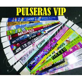 2000 Pulseras Vip - Papel Fotografico - Personalizadas