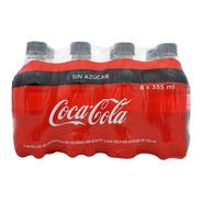 Refresco Coca Cola Sin Azúcar 8 Botellas De 355 Ml C/u