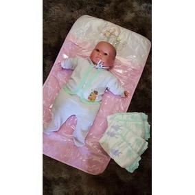 Trocador De Fralda Bebé Plastificado Bordado Bonito Barato