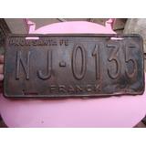 Patente Antigua Nj 0135 Franck Santa Fe 33x15cm