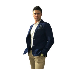 Blazer Saco Para Hombre Azul Náutico Peaceful Clothing. Co