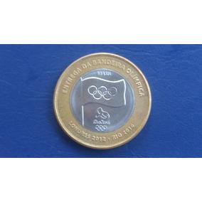 Moeda De 1 Real Bandeira Olimpica * Batida Dupla * Rarissima