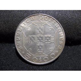 Moeda 50 Escudos 1970 Prata S.tomé Sob. / Fc