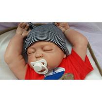 Bebê Reborn Menino Dormindo. Corpo Inteiro *pronta Entrega*