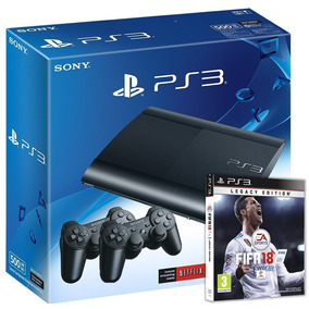 Playstation 3 500gb + 2 Joysticks + Fifa 18 Ps3 (físico)