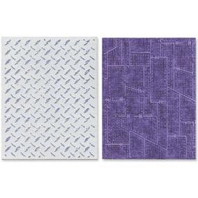 Sizzix Texture Fades Embossing Folders 2 / Pk - Plato De Di