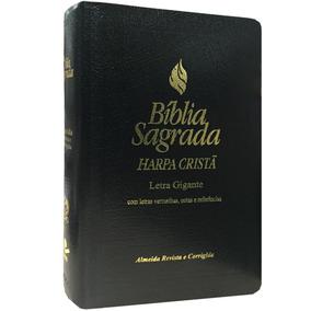 Bíblia Sagrada Letra Gigante E C/ Harpa Cristã / Capa Luxo