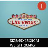 Placa Vintage Retro Pub Salão Decor Welcome To Las Vegas