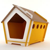 Casinha Ecológica De Cachorro Grande Kinghaus Amarela G