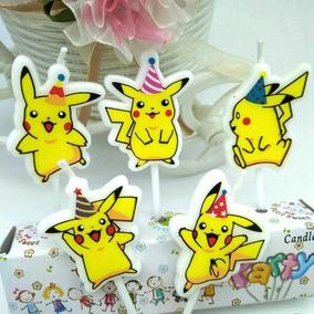 Fiesta Pokemon Pikachu Kit Vela Mesa Dulces Infantil Pastel