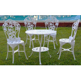 Jogo 4 Cadeiras 1 Mesa Conjunto Para Jardim Varanda Hera
