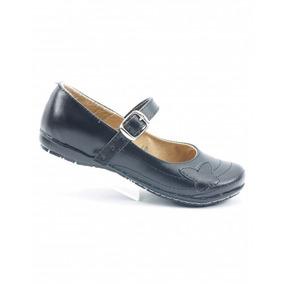 Zapato Escolar Para Niña Piel Negro Marca Anel De Baez