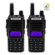 Kit 2  Rádio Comunicador Haiz Uv82 5w Vhf Uhf Bf Dual Band