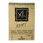 Block Con Espiral Xl Kraft Canson 21 X 29.7 Cm 90 G/m2 Eg