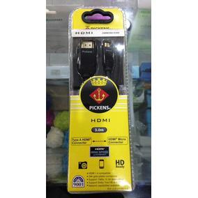 Cable Hdmi A Micro Hdmi De 3 Metros Pickens Original