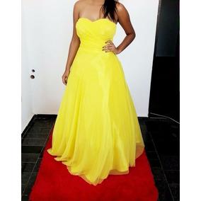 Vestido Amarelo Princesa Debutante