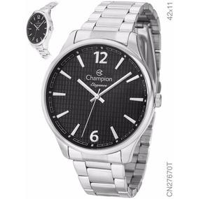 Relógio Champion Prateado Cn27670t Original + Nota Fiscal