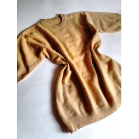 Blusa Em Lã Manga Curta Nude Estilo Vintage