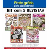 Kit 5 Revista Tapete Tapeçaria Croche Barbante Frete Gratis