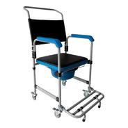 Cadeira Sanitária Higiênica De Banho Em Aço D50 Dellamed