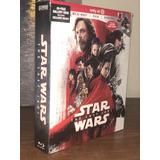 Blu Ray Star Wars The Last Jedi Digibook 40 Paginas Imp Usa