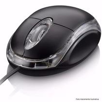 Mouse Óptico Usb Para Notebook E Pc, Laser Vermelho