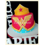 Torta Avengers Mujer Maravilla, Batman, Iron Man, Superman